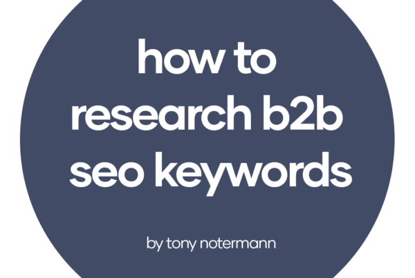 how to research b2b seo keywords