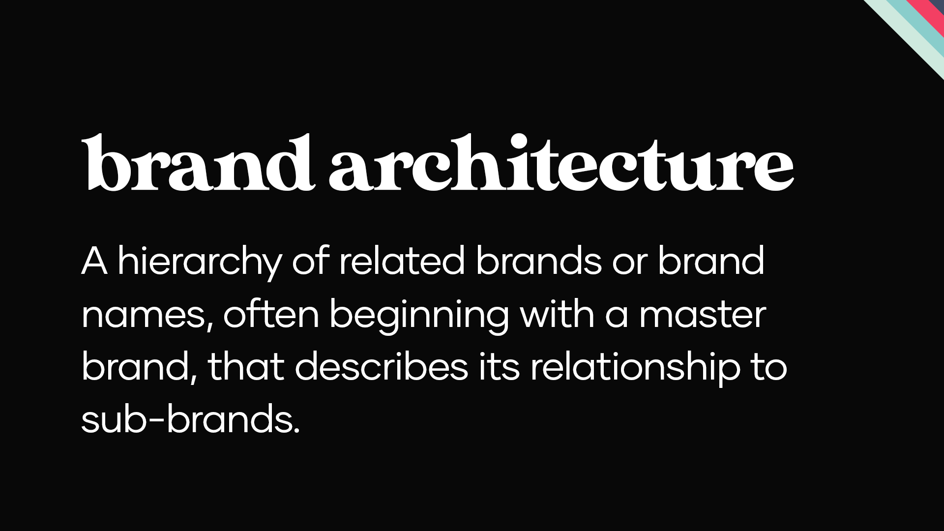 what is brand architecture