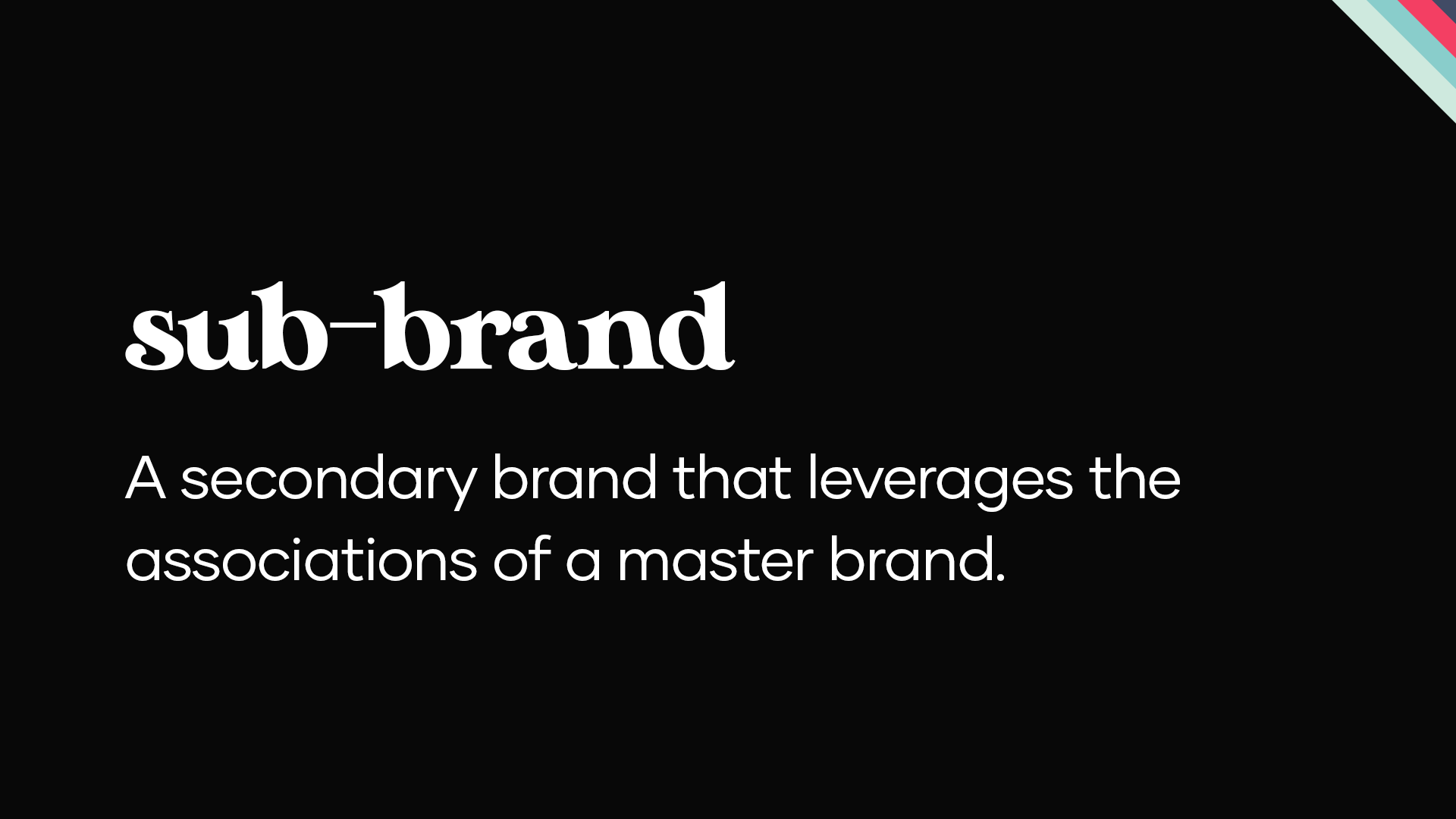 what is sub branding